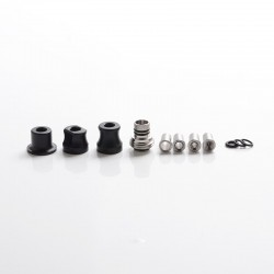 Mission Tips Integrated Whistle Style Drip Tip Mouthpiece + Base for SXK BB Box Mod - Black, POM, 20x13mm + 18x15mm + 18x13mm