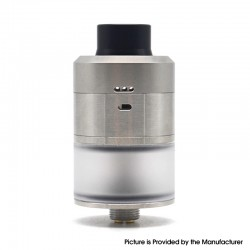 Kindbright Reborn Style RDTA Rebuildable Dripping Tank Vape Atomizer - Silver, 316 Stainless Steel, 2ml, 22mm Diameter