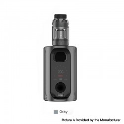 Authentic Augvape VX217 217W TC VV VW Mod Vape Starter Kit with Intake Sub Ohm Tank - Gray, 5~217W, 2 x 18650 / 20700 / 21700