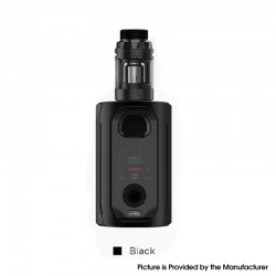 Authentic Augvape VX217 217W TC VV VW Mod Vape Starter Kit with Intake Sub Ohm Tank - Black, 5~217W, 2 x 18650 / 20700 / 21700