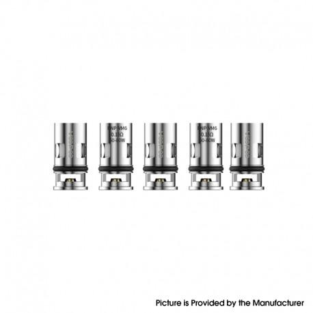 Authentic VOOPOO Replacement PnP-VM6 DL Mesh Coil Heads for VOOPOO DRAG X VW Mod Pod Vape Kit - 0.15ohm (60~80W) (5 PCS)