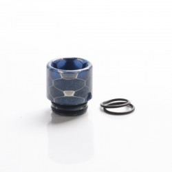 Replacement 810 Snake Skin Drip Tip for SMOK TFV8 / TFV12 Tank / Kennedy / Battle/Reload RDA Vape Atomizer - Blue, Resin, 17.5mm
