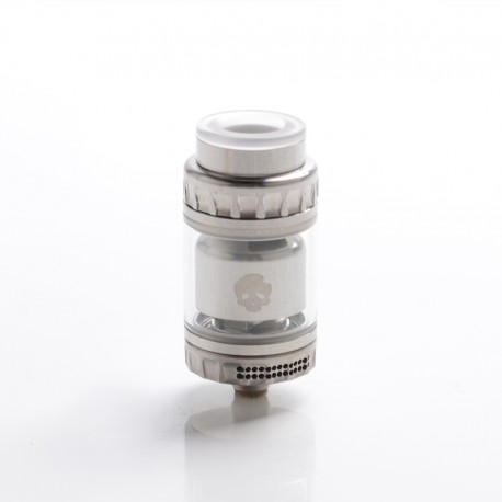 Authentic Dovpo x Vaping Bogan Blotto Mini RTA Rebuildable Tank Vape Atomizer - Silver, Glass + PCTG, 2ml / 4ml, 23.4mm Diameter