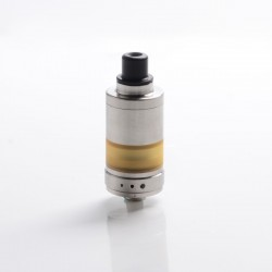 SXK Alpha Style RTA Rebuildable Tank Vape Atomizer - Silver, 316 Stainless Steel + PEI, 2.8ml, 22mm Diameter