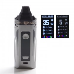 Authentic Artery Nugget GT 200W VW Box Mod Pod System Vape Starter Kit - Gunmetal, 8.0ml, 0.15ohm / 0.4ohm, 5~200W, 2 x 18650