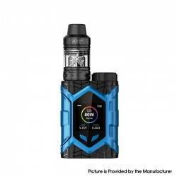Authentic Vaptio Wall Crawler 80W TC VW Mod Vape Starter Kit w/ Frogman Tank - Black & Blue, 5ml, 200~600'F, 7~80W, 1 x 18650