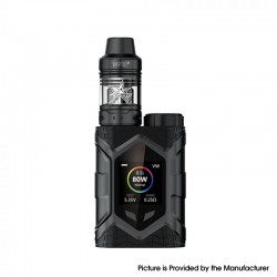 Authentic Vaptio Wall Crawler 80W TC VW Mod Vape Starter Kit w/ Frogman Tank - Black, 5ml, 200~600'F, 7~80W, 1 x 18650