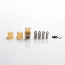 SXK Mission Tips Integrated Whistle Style Drip Tip Mouthpiece + Base for SXK BB Box Mod - Brown, PEI, 20x13mm + 18x15mm+18x13mm