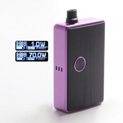 SXK BB Style 70W All-in-One Vape Box Mod Kit w/ USB Port - Purple, Aluminum Alloy, 1~70W, 1 x 18650