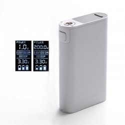 Authentic Joyetech Cuboid 200 200W TC VW Variable Wattage Vape Box Mod - Grey, Zinc Alloy, 1~200W, 3 x 18650