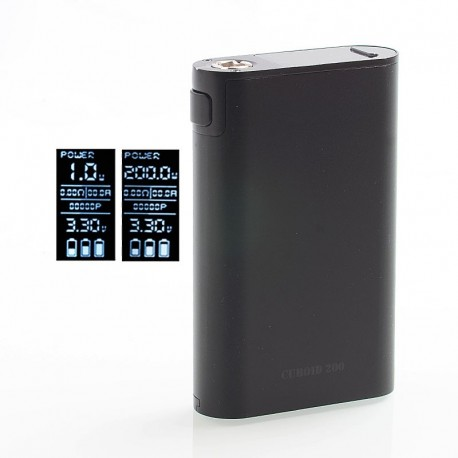 Authentic Joyetech Cuboid 200 200W TC VW Variable Wattage Vape Box Mod - Black, Zinc Alloy, 1~200W, 3 x 18650