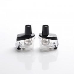 Authentic Vaporesso Target PM80 SE Mod Pod System Vape Kit Replacement Empty Pod Cartridge - Black + Transparent, 4.0ml (2 PCS)