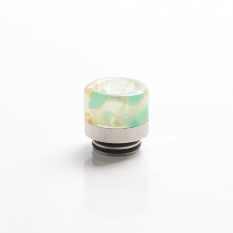 Replacement Glow-in-the-Dark 810 Drip Tip for SMOK TFV8 / TFV12 Tank / Kennedy / Battle / Reload RDA - Green, Resin + SS, 17mm