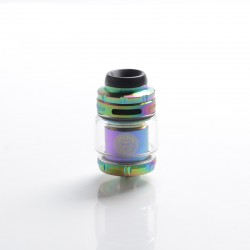 Authentic GeekVape Zeus X Mesh RTA Rebuildable Tank Vape Atomizer - Rainbow, SS + Glass, 4.5ml, 0.17ohm / 0.20ohm, 26mm Diameter