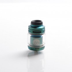 Authentic GeekVape Zeus X Mesh RTA Rebuildable Tank Vape Atomizer - Green, SS + Glass, 4.5ml, 0.17ohm / 0.20ohm, 26mm Diameter