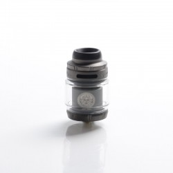 Authentic GeekVape Zeus X Mesh RTA Rebuildable Tank Vape Atomizer - Gunmetal, SS + Glass, 4.5ml, 0.17ohm /0.20ohm, 26mm Diameter