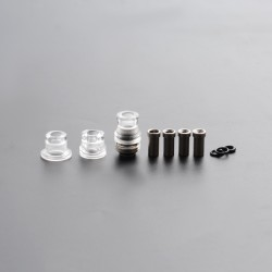 Mission Tips Integrated Whistle Style Drip Tip Mouthpiece + Base for SXK BB Box Mod - Transparent, 20x13mm + 18x15mm + 18x13mm