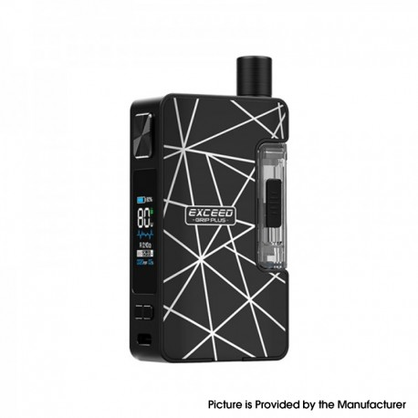 Authentic Joyetech Exceed Grip Plus 80W VW Box Mod Pod System Vape Starter Kit - Geometry, 2.6ml, 0.4 / 1.2ohm, 1~80W, 1 x 18650