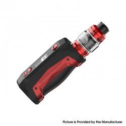 Authentic GeekVape Aegis Max 100W TC VW Mod Vape Starter Kit w/ Zeus Tank - Red Phoenix, 1~100W, 100~315'C, 1 x 18650 / 21700