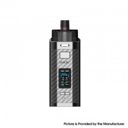 Authentic SMOK RPM160 160W VW Mod Pod System Vape Starter Kit - Silver Carbon Fiber, 7.5ml, 5~160W, 2 x 18650, IQ-160 Chipset