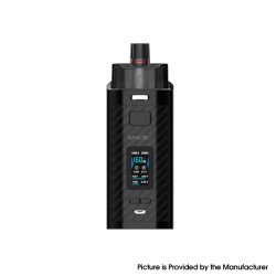 Authentic SMOK RPM160 160W VW Mod Pod System Vape Starter Kit - Black Carbon Fiber, 7.5ml, 5~160W, 2 x 18650, New IQ-160 Chipset