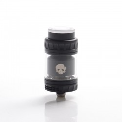 Authentic Dovpo x Vaping Bogan Blotto Mini RTA Rebuildable Tank Vape Atomizer - Black, Glass + PCTG, 2ml / 4ml, 23.4mm Diameter