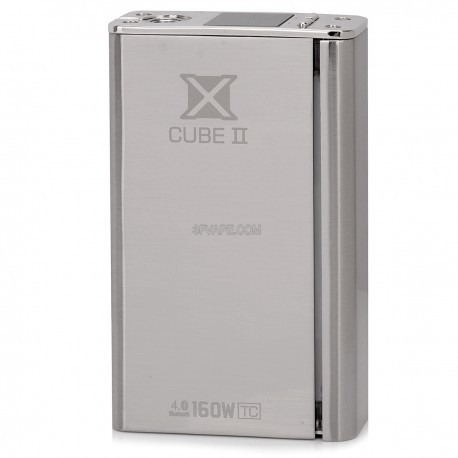 Authentic SmokTech X Cube II Bluetooth Temperature Control VW Box Mod - Silver, 6~160W, 200'F~600'F, 2 x 18650