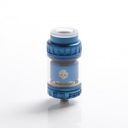 Authentic Dovpo x Vaping Bogan Blotto Mini RTA Rebuildable Tank Vape Atomizer - Blue, Glass + PCTG, 2ml / 4ml, 23.4mm Diameter