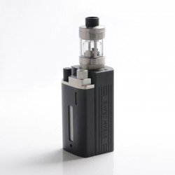Authentic Steam Crave Hardon 220W TC VW Vape Box Mod Kit w/ Squonk Backpack + Glaz V2 RTA Tank - Black + Silver, 2 x 18650/21700