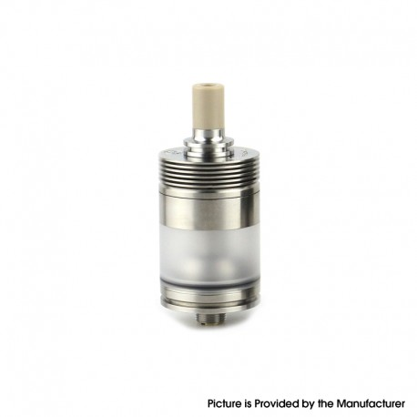 Authentic BP Mods Pioneer MTL / DL RTA Rebuildable Tank Vape Atomizer - Silver, Stainless Steel + PC, 3.7ml, 22mm Diameter