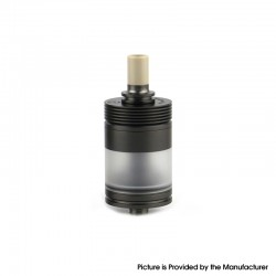 Authentic BP Mods Pioneer MTL / DL RTA Rebuildable Tank Vape Atomizer - Black, Stainless Steel + PC, 3.7ml, 22mm Diameter