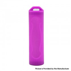 Protective Case Sleeve for 18650 Battery - Purple, Silicone