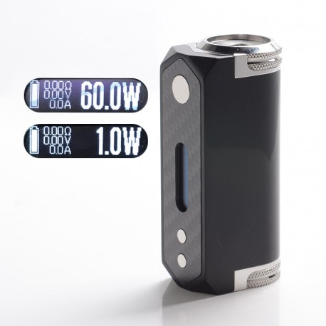 SXK Stickman SLGT V2 Gera GT Style 60W VW Variable Wattage Vape Box Mod - Black, 1~60W, 1 x 21700, Evolv DNA 60 Chip