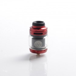 Authentic GeekVape Zeus X Mesh RTA Rebuildable Tank Vape Atomizer - Red & Black, SS + Glass, 4.5ml, 0.17 /0.20ohm, 26mm Diameter