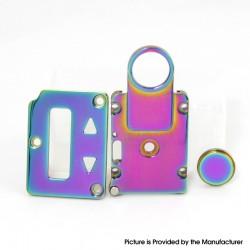 SXK Fire Button + Screen Plate + Button Plate Set for SXK BB 60W / 70W Vape Box Mod Kit - Rainbow, 316 Stainless Steel (3 PCS)