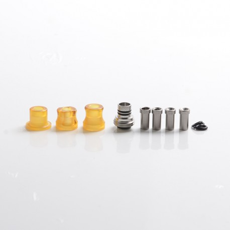 Mission Tips Integrated Whistle Style Drip Tip Mouthpiece + Base for SXK BB Box Mod - Brown, PEI, 20x13mm + 18x15mm + 18x13mm