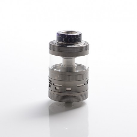 Authentic Steam Crave Aromamizer Ragnar RDTA Rebuildable Dripping Tank Vape Atomizer - Gunmetal, SS + Glass, 18ml, 35mm Diameter