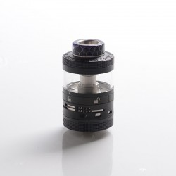 Authentic Steam Crave Aromamizer Ragnar RDTA Rebuildable Dripping Tank Vape Atomizer - Black, SS + Glass, 18ml, 35mm Diameter