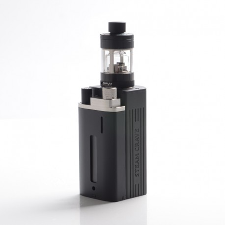 Authentic Steam Crave Hardon 220W TC VW Vape Box Mod Kit w/ Squonk Backpack + Glaz V2 RTA Tank - Black, 2 x 18650 / 21700