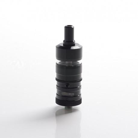 YFTK Flash e-Vapor V4.5S+ Style RTA Rebuildable Tank Vape Atomizer - Black, 316 Stainless Steel + Glass, 4.5ml, 23mm Diameter