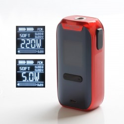 Authentic Vape Master Hunter Pro 220W TC VW Variable Wattage Vape Box Mod - Red, 5~220W, 2 x 18650, VM86 Chip