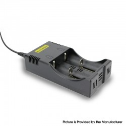 Authentic Listman X2 1A Dual-Slot Charger for 18650 / 17670 / 17500 / 17350 / 16340 (RCR123) / 10440 Batteries, etc. - Euro Plug