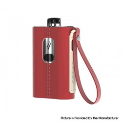 Authentic Aspire Cloudflask 2000mAh DTL Box Mod Pod System Vape Starter Kit - Red, SS + Microfiber Leather, 5.5ml, 0.25ohm
