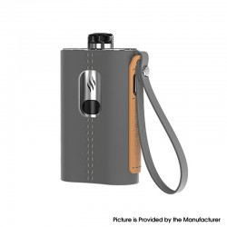 Authentic Aspire Cloudflask 2000mAh DTL Box Mod Pod System Vape Starter Kit - Grey, SS + Microfiber Leather, 5.5ml, 0.25ohm