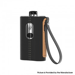 Authentic Aspire Cloudflask 2000mAh DTL Box Mod Pod System Vape Starter Kit - Black, SS + Microfiber Leather, 5.5ml, 0.25ohm
