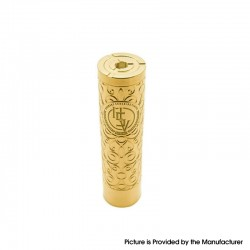 Authentic asMODus Rose Finch Vape Mechanical Mod - Brass, Brass, 24.5mm Diameter, 1 x 18650