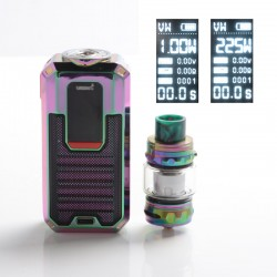 Authentic Smoant Ladon 225W TC VW Vape Box Mod + AIO 2in1 Tank Vape Kit - Rainbow, 1~225W, 100~300'C / 200~600'F, 2 x 18650