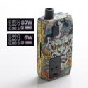 Authentic ThinkVape Thor AIO 80W VW Box Mod Pod System Vape Starter Kit - Asura, 3.0ml, 0.2ohm / 0.5ohm, 5~80W, 1 x 18650
