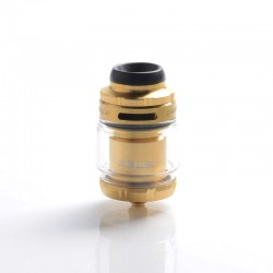 Authentic GeekVape Zeus X Mesh RTA Rebuildable Tank Vape Atomizer - Gold, SS + Glass, 4.5ml, 0.17ohm / 0.20ohm, 26mm Diameter