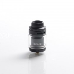 Authentic GeekVape Zeus X Mesh RTA Rebuildable Tank Vape Atomizer - Black, SS + Glass, 4.5ml, 0.17ohm / 0.20ohm, 26mm Diameter